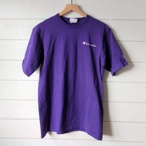 Champion Purple Large Logo Tee Shirt